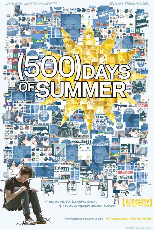 Image result for 500 DAYS OF SUMMER ( 2009 ) POSTER