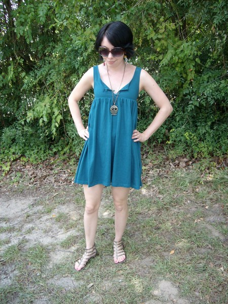 Day 17:  Paint the Town Teal Dress 6