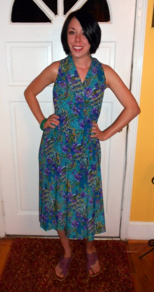 Day 78:  Faux Halter Dress 8