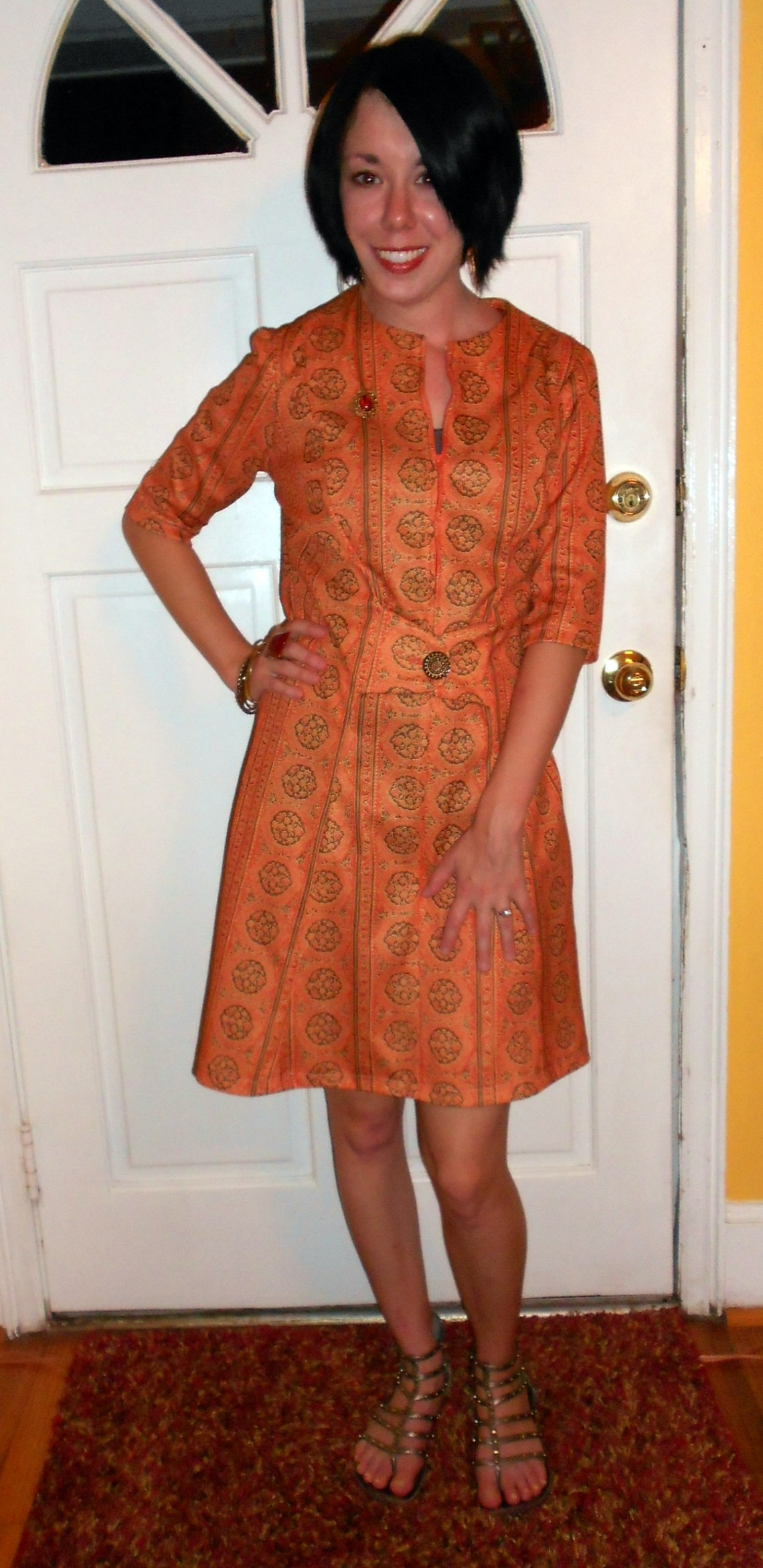 Day 83: Orange you Glad it's Fall? Dress 1