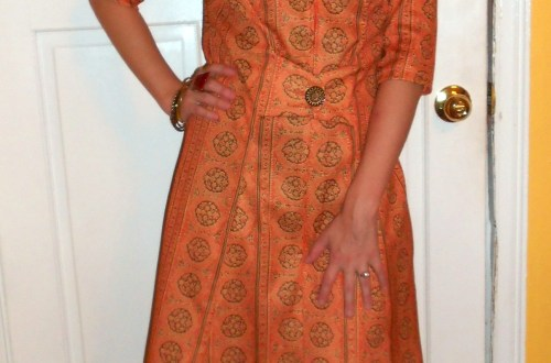 Day 83:  Orange you Glad it's Fall? Dress 7