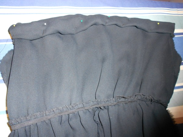 pinned top of dress