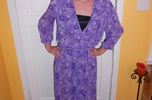 Day 81:  Purple Rainforest Dress 8