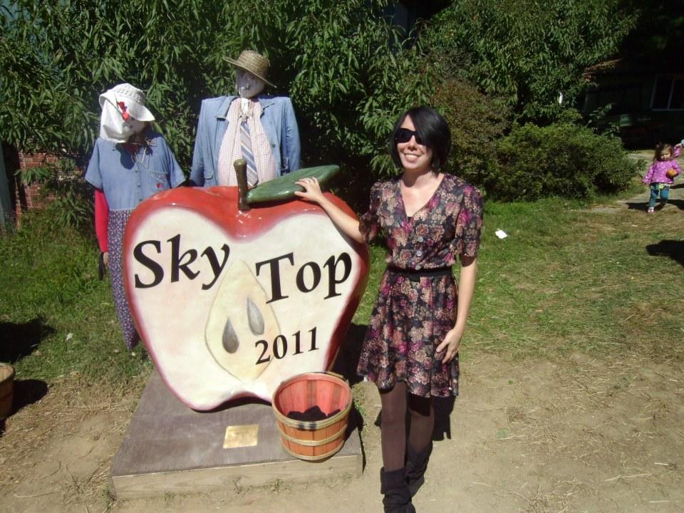Day 95:  Apple Orchard Frumpy Collared Dress Refashion 6