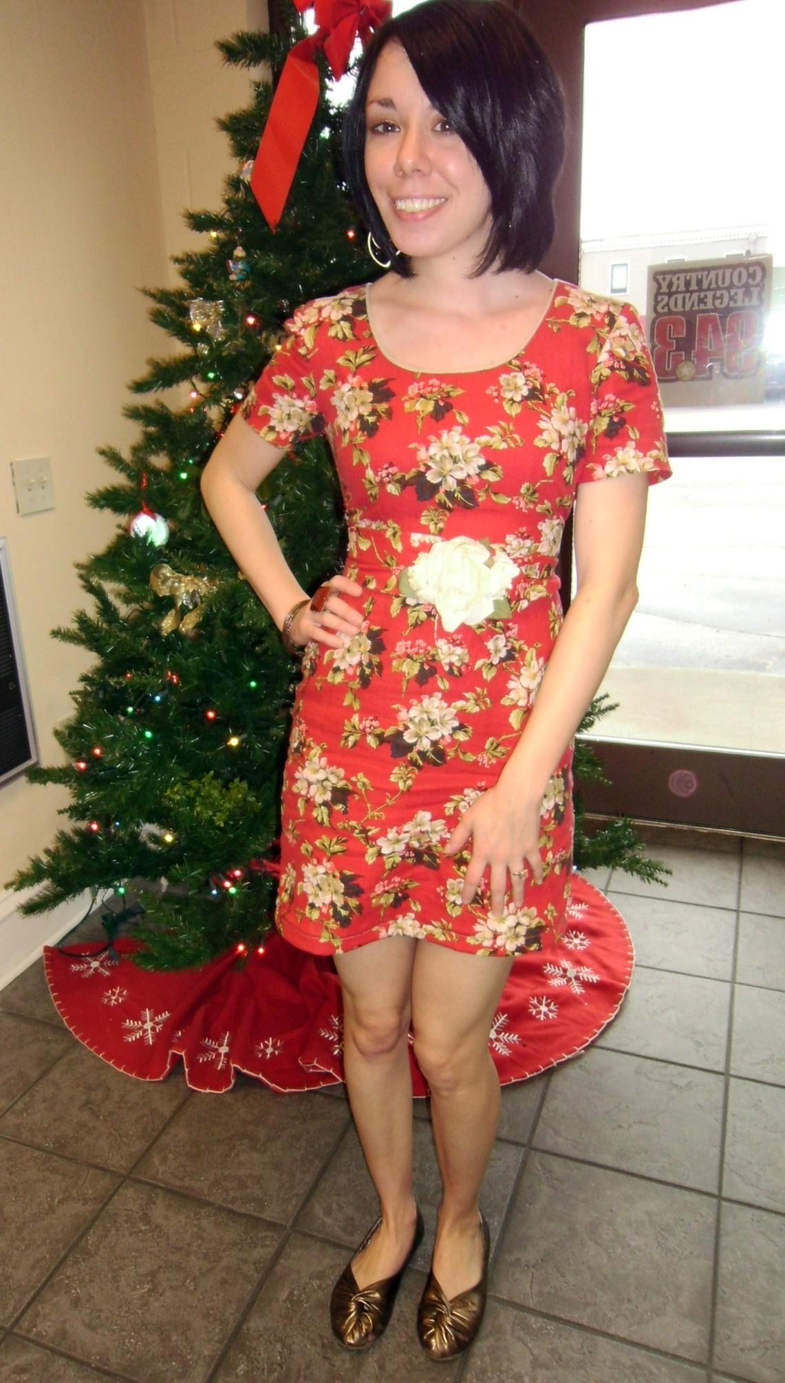 Day 175:  Christmas Luncheon Dress 1