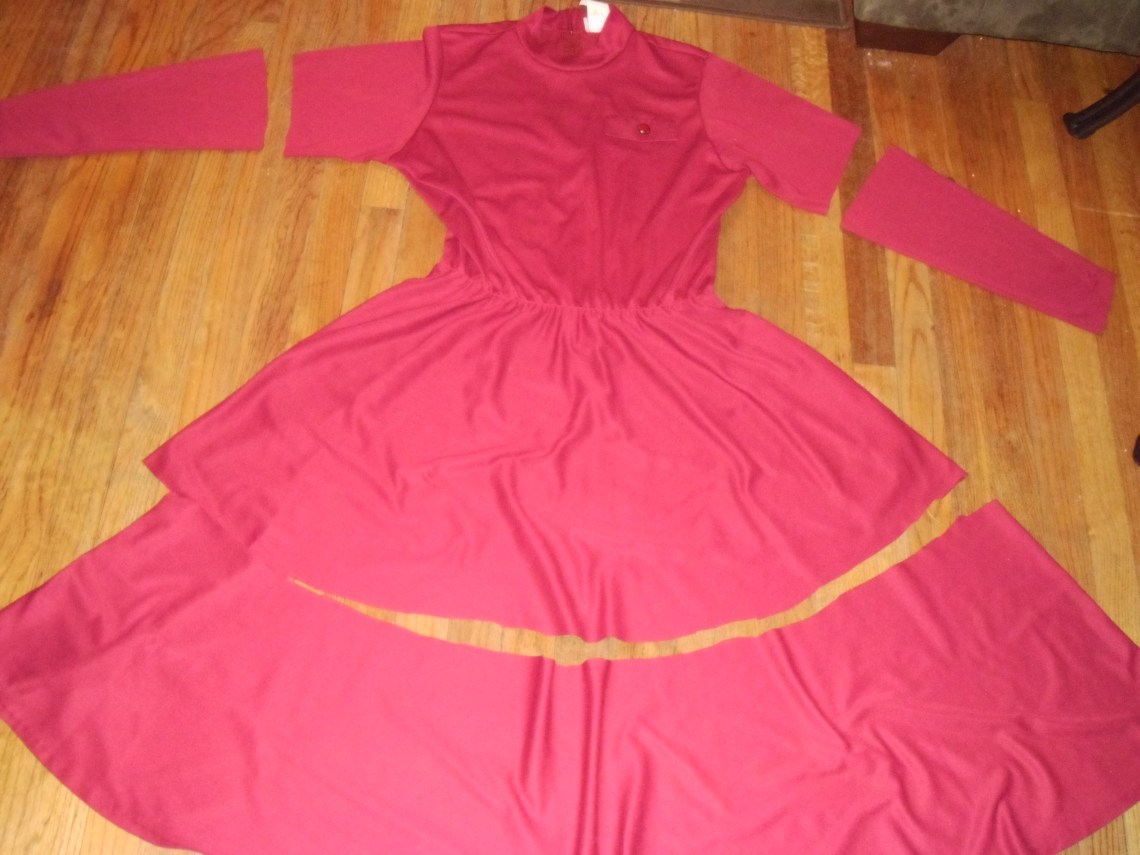 Day 177: Cranberry Sauce Dress 1
