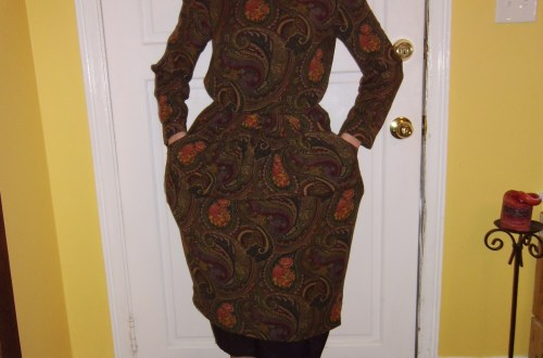 Day 198:  Plucky in Paisley Dress 7