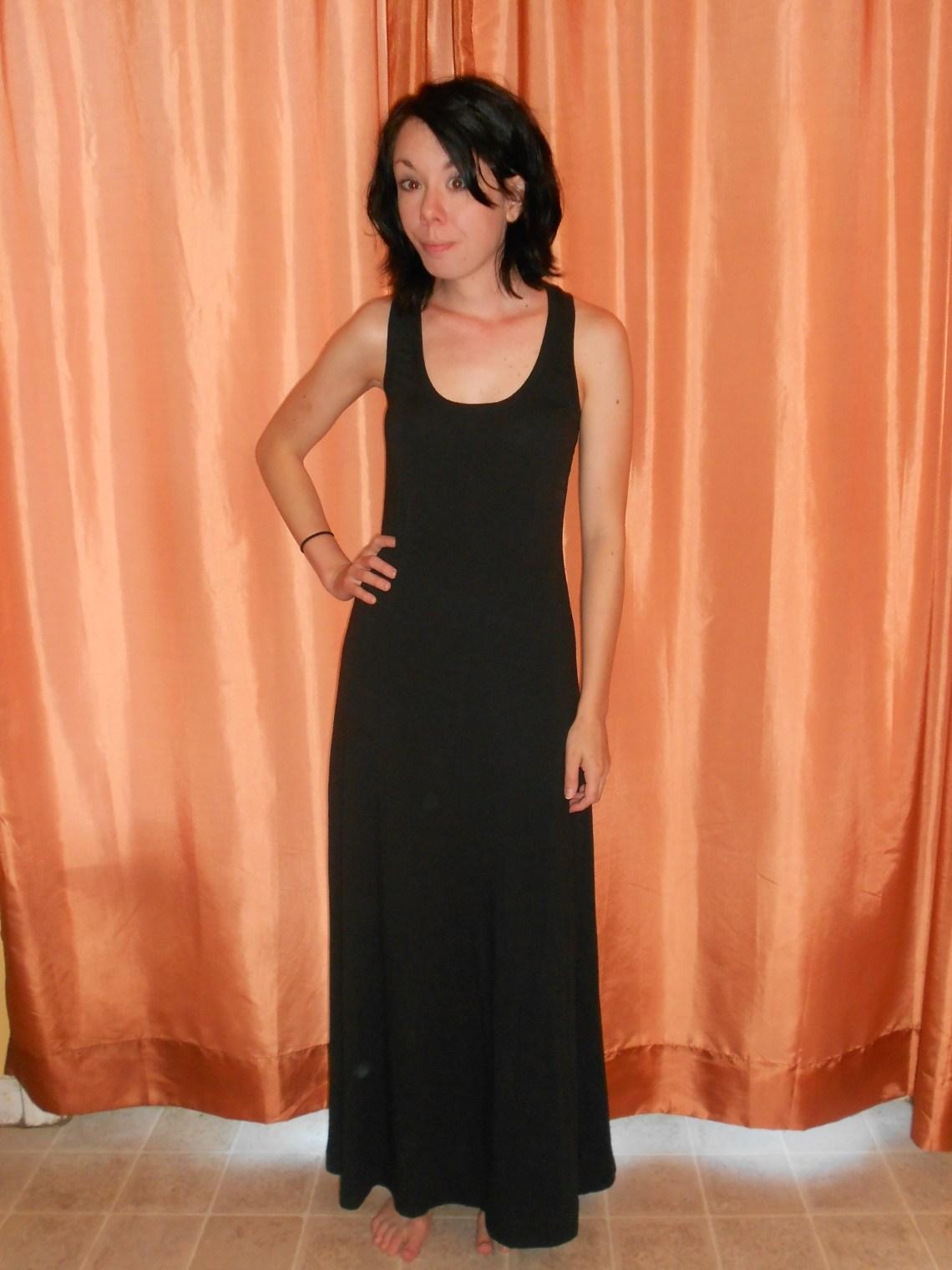 Day 284:  Back in Black Dress 1