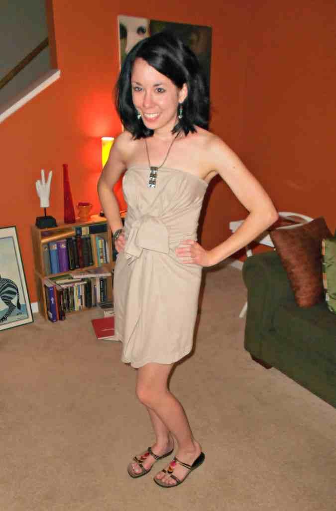 Day 349: A T-Shirt to Sassy Dress Refashion 4