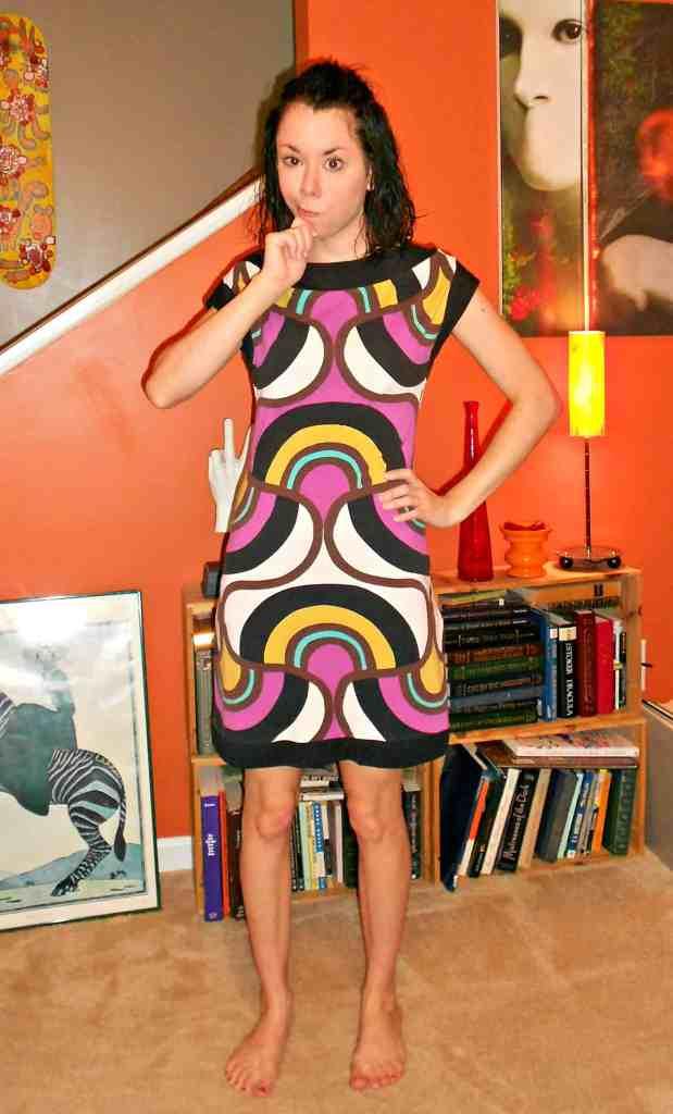 Day 357:  Grown Up Enough: A Dress to Asymmetrical Top Refashion 2