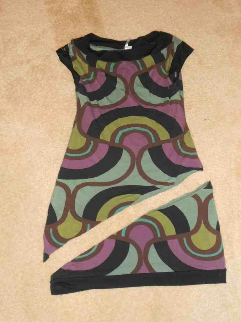 Day 357:  Grown Up Enough: A Dress to Asymmetrical Top Refashion 5