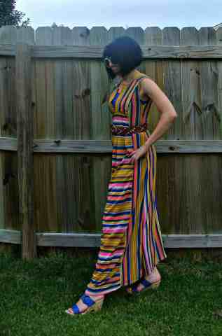 How I love my dress of many colors!