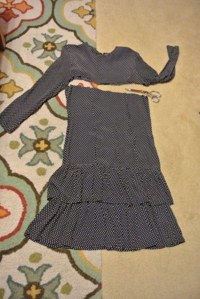 cutting off dress below sleeves