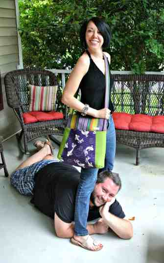 Ryan seems quite smitten with my new Nana bag!  :)