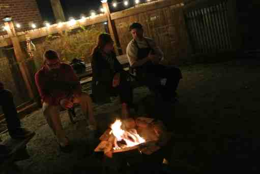 They have a fire pit too!