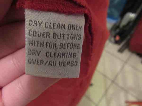 Dress label