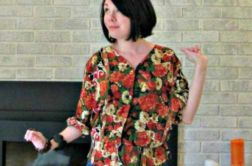 A Fall Floral Dress to Shirt Refashion 14