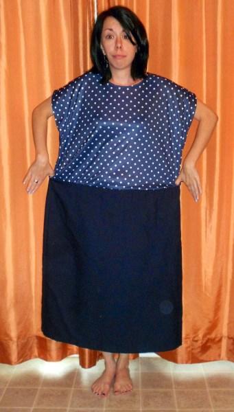 refashionista polka dot dress before