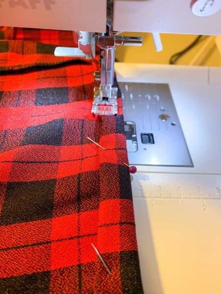 sewing hem for refashion