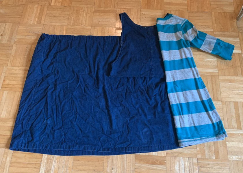 using dress to measure length of refashioned dress