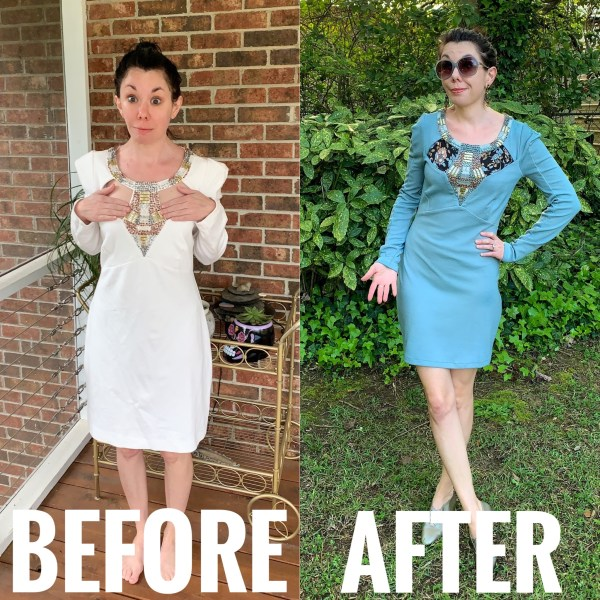 Refashionista Cut Out Dress Before and After