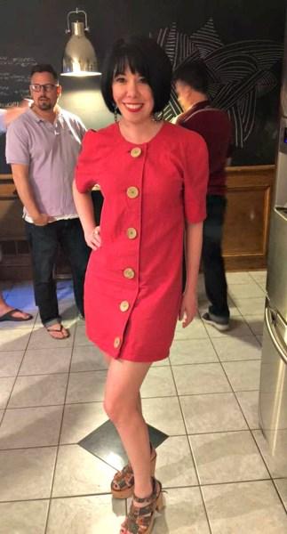 60s mod dress refashion after