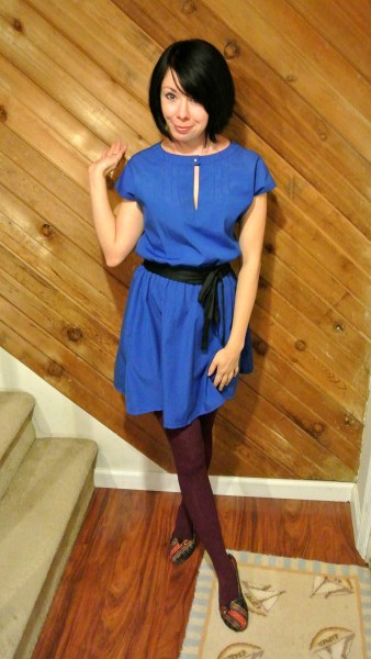 blue dress refashion after