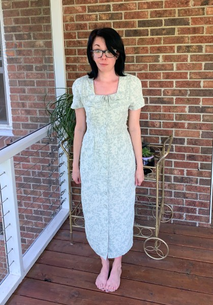 refashion a dress and matching face mask before image