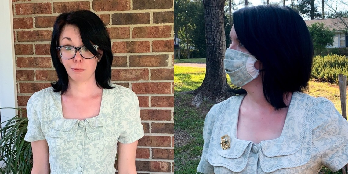 How to Make a DIY Face Mask & Matching Dress Refashion (Without a Pattern) 1