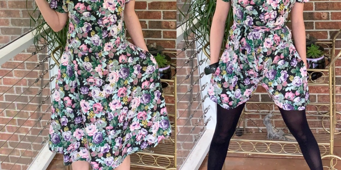 An Easy DIY Romper (from an Old Dress!) 9
