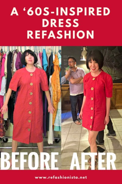 A 1960's-Inspired Dress Refashion