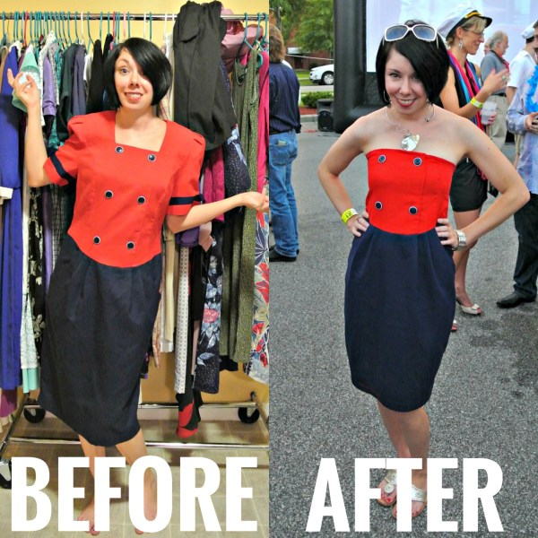 Refashionista Yacht Rock Party Refashion Before and After