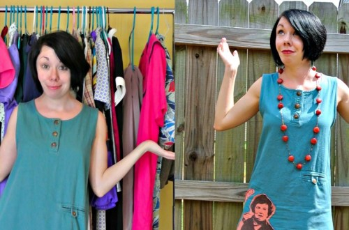 What Would Julia Do? A T-Shirt Appliqué Dress Refashion 15