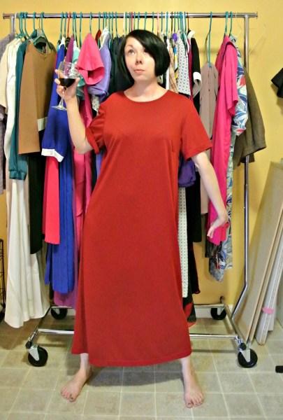 Off-the-Shoulder No-Sew Dress Refashion