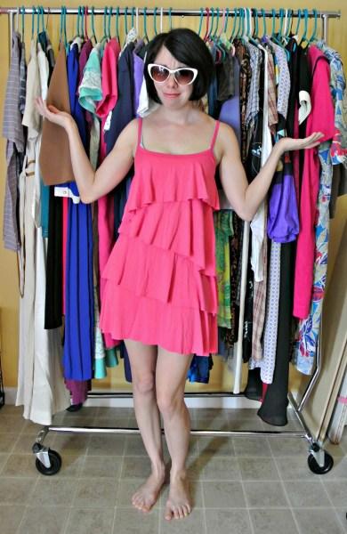 DIY Fringed Dress Refashion Before