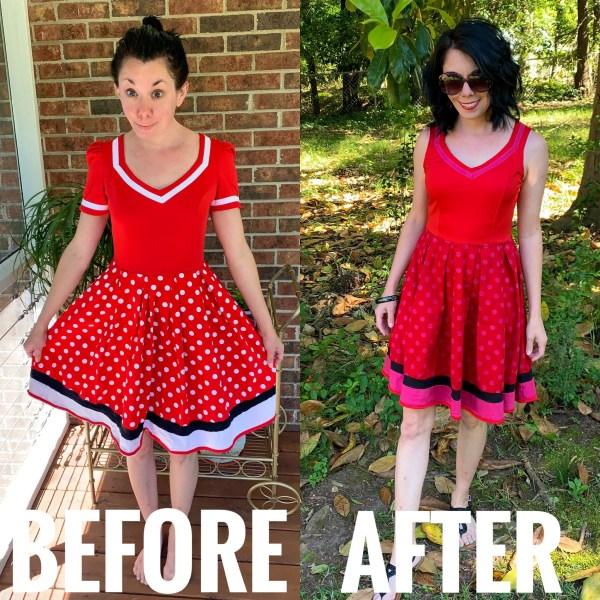 Refashionista An Overdyed Polka Dot Dress Refashion