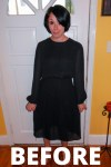 Day 72: Refashioning a Little Black Mess to a Little Black Dress 2