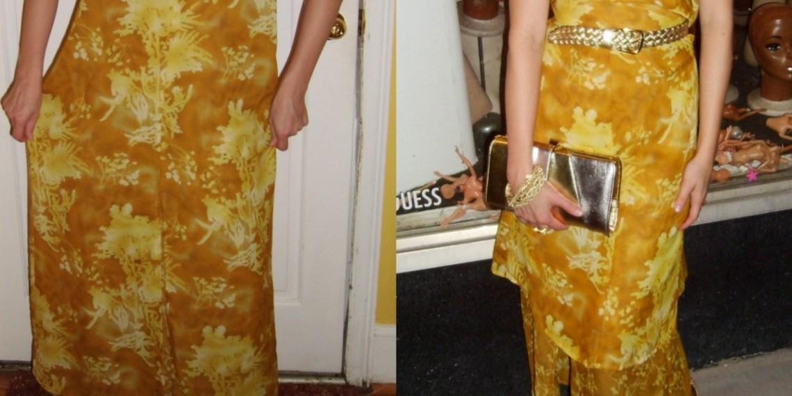 Day 64: No-Sew Refashion: An Elegant Twist & Cinch Dress 1