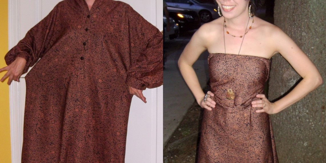 Day 65: The Easiest No-Sew Dress Refashion Ever 1