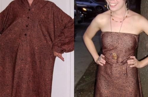 Day 65:  The Easiest No-Sew Dress Refashion Ever 5