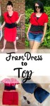 How to Turn a Thrifted Dress into a Top 3