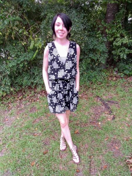 '80s Dress to Sleeveless Minidress After