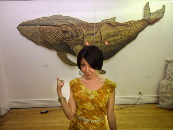 Jillian at Art Show