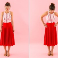 Roxy's #upcycled tree skirt to me skirt #refashion