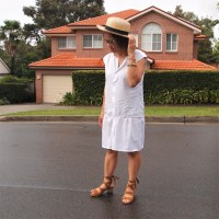 A #thrifty drop waist dress #tutorial