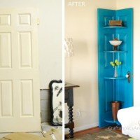 #Upcycle a door into corner shelf