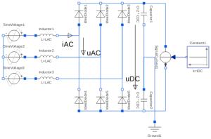 Modelica: ElectricalAnalogExamplesRectifier