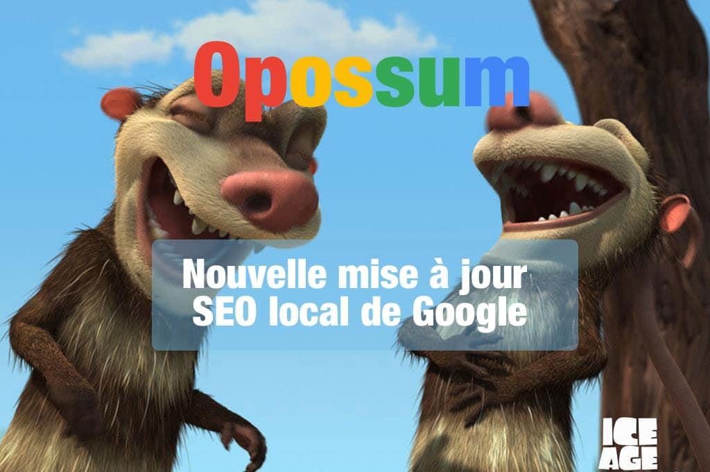Google Opossum : le nouvel algorithme de référencement local