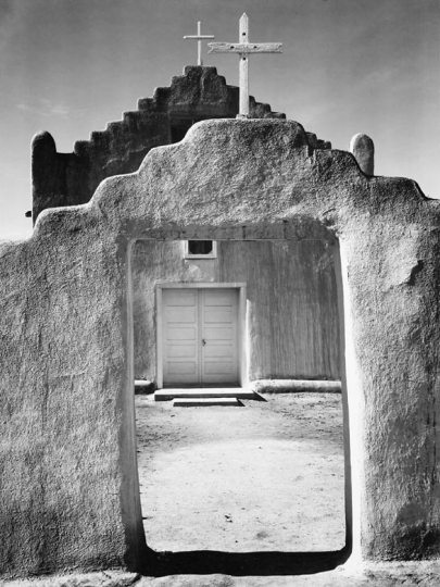 Adams Church, Taos, Pueblo, 1924.