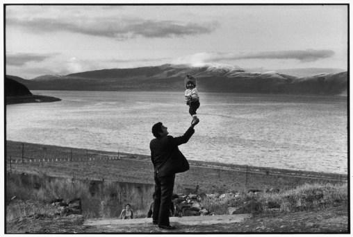 Soviet Union. Armenia. Visitors at village on the Lake Sevan. 1972.